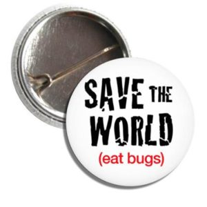 Button SAVE THE WORLD