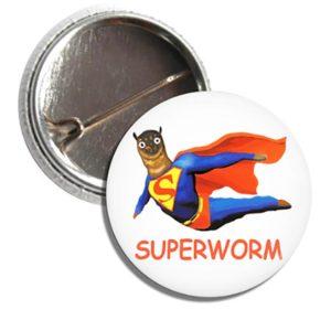 Button SUPERWORM SUPER WORM
