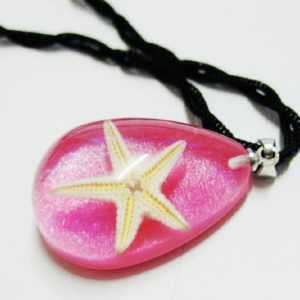 FREE SHIPPING 12 PCS NEW REAL SMART PINK DROP STARFISH PENDANT INSECT JEWELRY TAXIDERMY GIFT