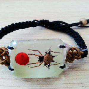 free shipping PAIR NEW REAL SPINY SPIDER GLOW BRACELET INSECT BANGLE TAXIDERMY Saint Valentine's GF LOVERS GIFT GL01